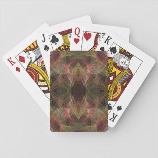 Standardindex, der Crds abstraktes Fraktal Desig Spielkarten