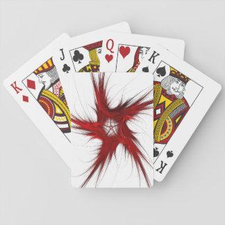 Standardindex-Spielkarte-abstraktes Rotes/Weiß Spielkarten