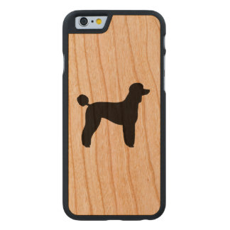 Standardpudel-Silhouette Carved® iPhone 6 Hülle Kirsche