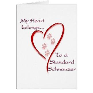 Standardschnauzer-Herz gehört Karte