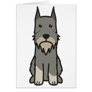Standardschnauzer-HundeCartoon Karte