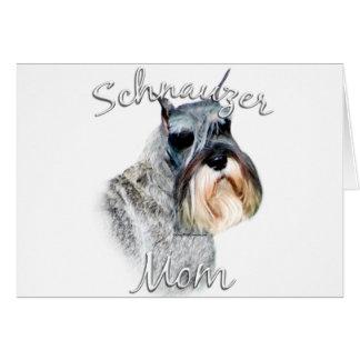 Standardschnauzer-Mamma 2 Karte