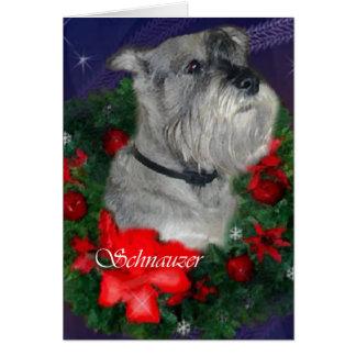 Standardschnauzer-Weihnachtsgeschenke Karte