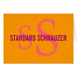 Standardschnauzer-Zucht-Monogramm-Entwurf Karte