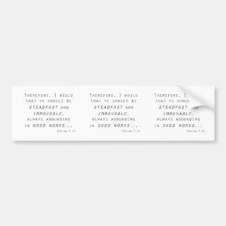 standhafte unbewegliche mosiah lds Schrift Autoaufkleber