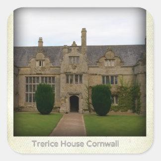 Standort Trerice Haus-Cornwalls England Poldark Quadratischer Aufkleber