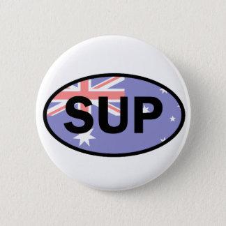 Standup Paddleboard Australien Flagge Runder Button 5,1 Cm