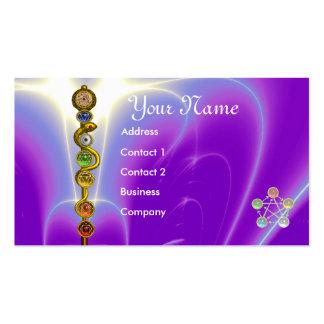 STANGE VON ASCLEPIUS MIT 7 CHAKRAS, GEISTIGE VISITENKARTE