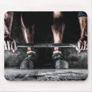Stangen und Kreide - Weightlifting-Druck Mauspads