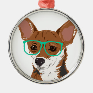 Stanley die Chihuahuamischung Silbernes Ornament