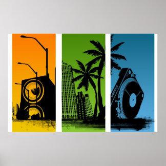 Stanton Turntable-Stadt-Plakat - DJ-Disc-Jockey