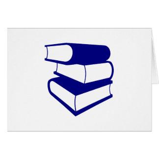 Stapel blaue Bücher Karte