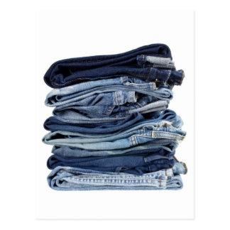 Stapel Blue Jeans Postkarte
