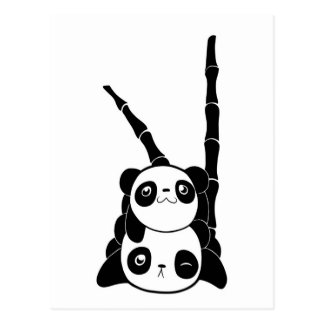 Stapel der Panda-Karte Postkarte