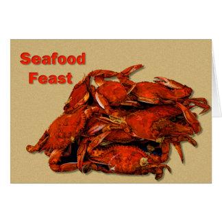 Stapel des gedämpften Krabben-Meeresfrüchte-Festes Karte