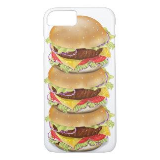 Stapel Hamburger oder Cheeseburger iPhone 8/7 Hülle