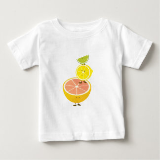 Stapel lächelnde Zitrusfrucht Baby T-shirt