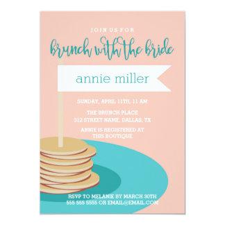 Stapel Pfannkuchen| des Brunch-Brautparty Karte
