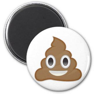 Stapel von Poo Emoji Runder Magnet 5,7 Cm