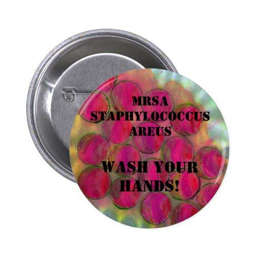 Staphylo - waschen Sie Ihre Hände! - Besonders ang Anstecknadelbuttons