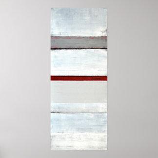 """""""Staplungs"""" grauer und roter abstrakter Poster"""