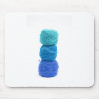 Staplungsbälle des blauen Garns Mauspad