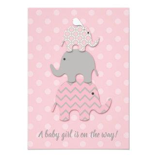 Staplungselefant-Babyparty-Einladung Karte