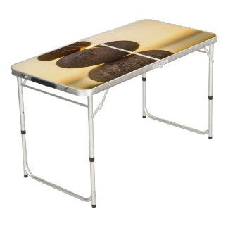 Staplungskiesel Beer Pong Tisch