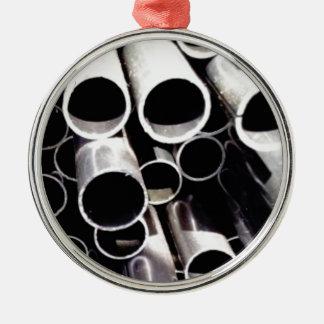 Staplungskreise des Stahls Silbernes Ornament