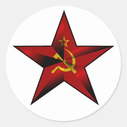 Star_of_the_Soviet_Union Runder Aufkleber