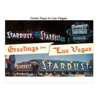 Stardust (große Tage in Las Vegas) Postkarte