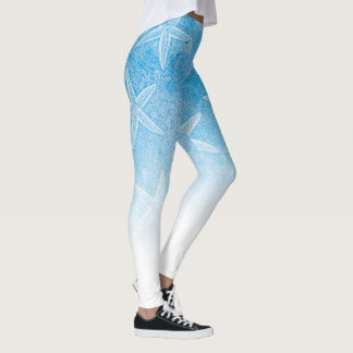 Starfish-Aqua-Blau Leggings
