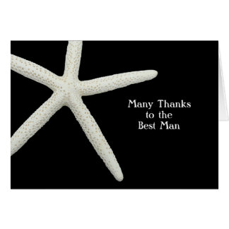 Starfish auf Schwarzem danken Ihnen Mitteilungskarte