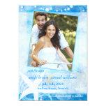 Starfish-Garten-lädt blaue Strand-Foto-Hochzeit Personalisierte Ankündigungskarten