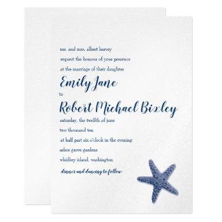 Starfish-Hochzeits-Einladung Karte