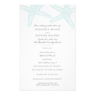 Starfish-Hochzeits-Programme 14 X 21,6 Cm Flyer