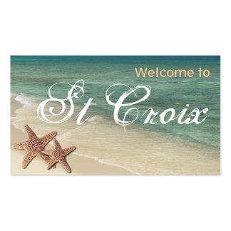 Starfish-Ozean-Geschenkumbau:: Willkommen zu St. Visitenkarten Vorlage