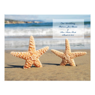 Starfish-Paar-Hochzeits-Programm-Flyer 21,6 X 27,9 Cm Flyer