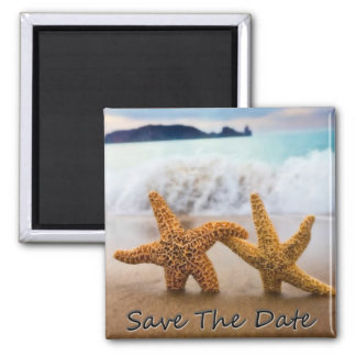Starfish-Save the Date Magnet Quadratischer Magnet