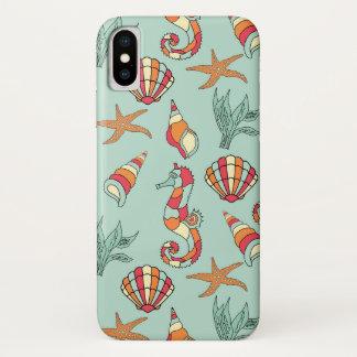 Starfish, Seepferd, Seashell, iPhone X Hülle