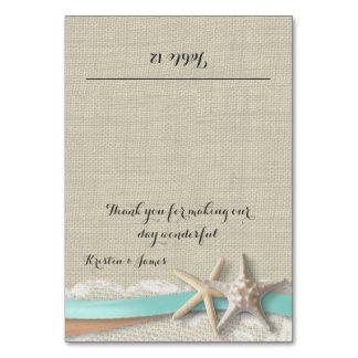 Starfish-Spitze und Band-Platzkarte