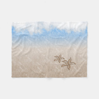 Starfish-Strand Fleecedecke