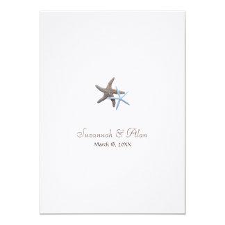 Starfish-Strand-Hochzeits-Einladungen, 12x18