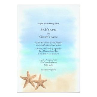 Starfish-Strand-Thema-Hochzeits-Einladungen 12,7 X 17,8 Cm Einladungskarte