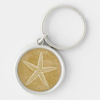 Starfish-TAN-Sand Schlüsselanhänger