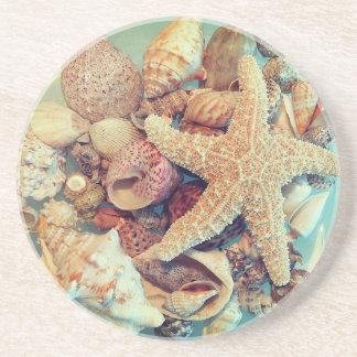Starfish und Muscheln 2 - Untersetzer
