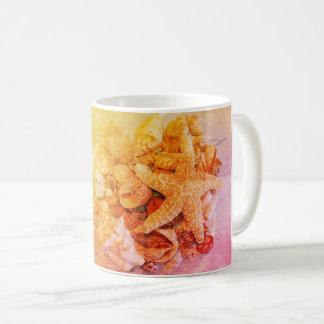 Starfish und Muscheln - Kaffeetasse