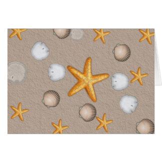Starfish-und Seashells-Strand-Thema-Geschenke Karte