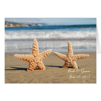 Starfish verbinden auf der Strand-Gruß-Karte Karte