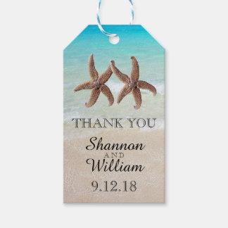 Starfish verbinden tropische Hochzeit danken Ihnen Geschenkanhänger
